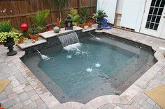 Swimming Pool Ideas Beautiful - Increasing Your Swimming Pool Area. Make waves with waterfalls, fountains and slides in these top best swimming pool designs. Explore the coolest backyard home pool ideas ever. Pools For Small Yards, Small Swimming Pools, Swimming Pools Backyard, Pool Spa, Swimming Pool Designs, Backyard Landscaping, Landscaping Ideas, Indoor Swimming, Lap Pools