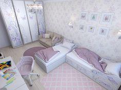 Сиреневая детская для двух девочек. - Babyblog.ru
