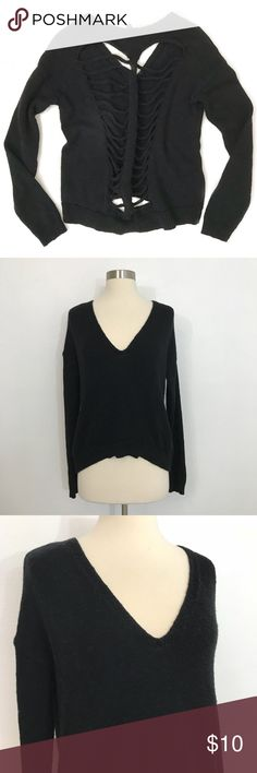 Express Cut Out Sweater • Oversized Black sweater with cut out detailing on the back. This is in great condition with no signs of wear. Express Sweaters