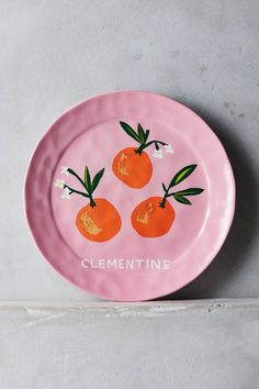 Clementine plate by