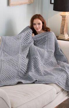 Crochet Patterns Galore - Checkerboard Textures Throw
