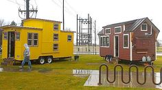 New Tiny House builder: Maximus Extreme Living Solutions. They build self-contained living units that are permanently affixed to a mobile steel platform. Tiny House Blog, Tiny House Cabin, Tiny House On Wheels, Tiny Houses, Tiny House Exterior, Tiny House Builders, Tiny House Appliances, Tiny Bath, Building A Shed
