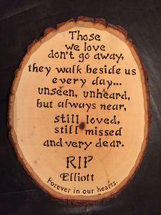 'Elliott' wood burnt art