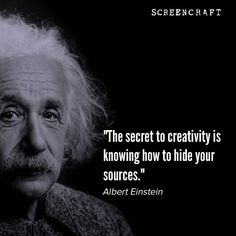 #Screenwriting #writing #filmmaking by screen_craft Filmmaking Quotes, Right Brain, Screenwriting, Albert Einstein, Inspire Me, Motivational Quotes, Writer, Instagram Posts, Craft