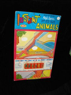 Instant Animals Magic Capsules 1964 Ideal #vintagetoys #toys #collectibles