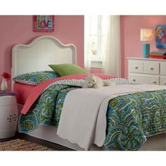 Fashion Bed Group Lisette Headboard - White (twin)
