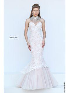 Sherri Hill 50356 Prom Dress 2016-Ivory/Nude-14