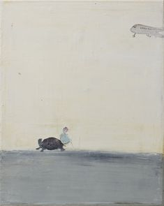 'A girl, a turtle and a plane', oil on canvas, 40 x 50 cm - Norbert… Graphic Design Illustration, Illustration Art, Graphic Art, Figure Painting, Painting & Drawing, Great Paintings, Types Of Art, Figurative Art, Contemporary Artists