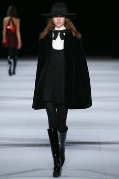 Mary Mary's new blog 'Music and Musings' is here! First post is about the plethora of capes featured in the Fall 2014 Ready to Wear shows, including this Saint Laurent number. Check it out. Pic: Gianni Pucci for IndigitalImages.com