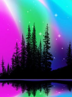Go to Alaska and see the Northern Lights - the beautiful Aurora Borealis. I would stop here because the lights are so breathtaking in pictures, I would love to see what they looked like in person All Nature, Science Nature, Northen Lights, Lake Photos, See The Northern Lights, Natural Phenomena, Beautiful Sky, Night Skies, Sky Night