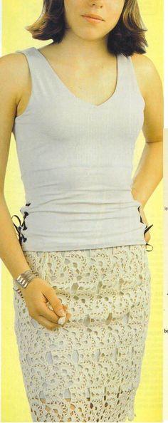 Croche e trico da Fri, Fri´s crochet and tricot: Tunicas Conjuntos Vestidos Top Blusas saias Shorts