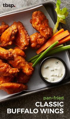These are the wings that put Buffalo on the map! Get all the crunch and flavor of classic Buffalo wings without the hassle of deep-frying. Our pan-fried version is quick to prepare and guaranteed to calm the Buffalo wing-eating beast in all of us.