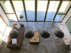 Stunning view of the living room from upstairs Stunning View, Barn, Living Room, Architecture, Modern, Home, Design, Style, Arquitetura