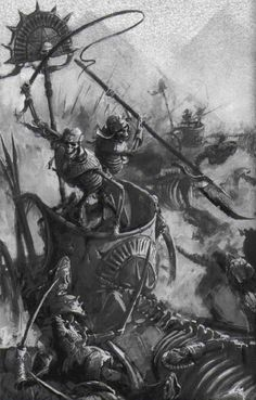 Warriors of the Tomb Kings High Fantasy, Necromancer, Fantasy Battle, Warhammer Fantasy Roleplay, Tomb Kings, Fantasy Rpg, Warhammer Fantasy Battle, Warhammer Tomb Kings, Unusual Art