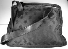 FOR THE CHROME HEARTS COLLECTOR: Authentic #CHROMEHEARTS LARGE TOTE PURSE in Black Nylon and Leather SS Detail