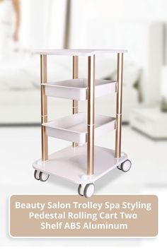 This cart is designed by a professional beauty salon designer. The design concept of the cart is focused on ease of use, durability and light weight. Therefore, this cart uses aluminum alloy material as the stroller bracket, and ABS plastic as the cart tray, greatly reducing the weight of the body. This makes the cart even lighter to use. Moreover, a multi-layered tray is designed to make the loading capacity even larger. Salon Trolley, Radio Frequency, Beauty Spa, Facial Care, Aluminium Alloy, Salons, Kitchen Cart, Wheels