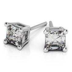 Asscher Diamond Stud Earrings in Platinum http://www.brilliance.com/diamond-stud-earrings#Asscher-Stud-Earrings