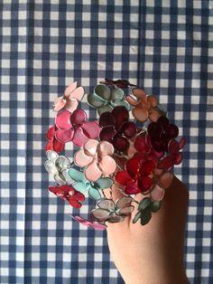 ⚪natta.lk @ instagram⚪ Gör det själv Blombukett Bukett Blommor Blomma Nagellack Spoltråd Ståltråd Nagellacksblommor Flower Flowers Wire Nailpolish DIY