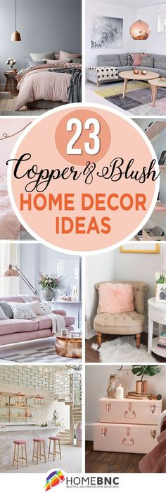 Sophisticated Rouge: 23 Copper and Blush Designs #homedecor #home #diy