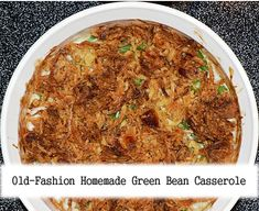 Green bean casserole was invented in 1955 by the Campbell Soup Company. It has since become a popular Thanksgiving side dish in the United States. There are many basic recipes for green bean casserole. Thanksgiving Green Bean Casserole, Thanksgiving Green Beans, Homemade Green Bean Casserole, Thanksgiving Side Dishes, Thanksgiving Dinners, Casserole Dishes, Casserole Recipes, Crab Casserole, The Best Green Beans