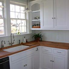 farmhouse kitchen countertops by DeVos Custom Woodworking