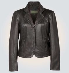 Women's Alice Black High Quality Genuine Leather Jacket      Jacket Features:       Outfit type: genuine Or Faux Leather Jacket Gender: Female Color: Black Front: Front Button Closure Collar: Coat Style Collar Lining: Viscose Lining Cuffs: Round