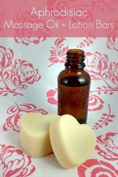 Aphrodisiac Massage Oil and Lotion Bars DIY Recipe