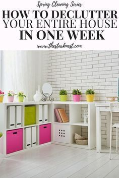 This is an extremely thorough guide to decluttering your entire home.