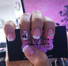 Fabulous Nails, Beautiful Nail Art, Nail Arts, Halloween, Poet, Finger Nails, Fingernails Painted, Pink Nails, Nail Decorations