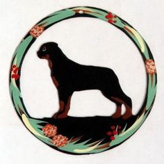 Hand Painted Dog Christmas Ornament - Rottweiler   PupLife Dog Supplies