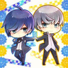 Minato Arisato and Yu Narukami Persona 3 and 4 Persona Crossover, Yu Narukami, Persona Q, Velvet Room, Shin Megami Tensei Persona, Random Stuff, Video Games, Nintendo, Give It To Me