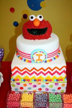 Rainbow Elmo 2 nd birthday