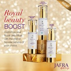 The Royal Jelly Ritual is designed to adapt to your skin's changing needs. Ask me how to create your custom skin care system. http://jafra.me/47qd