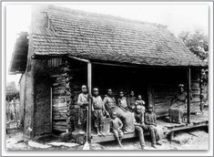 """Photo of a slave cabin. Source: Library of Congress. Read more on the GenealogyBank blog: """"Resources to Trace African American Slave Ancestry."""" http://blog.genealogybank.com/resources-to-trace-african-american-slave-ancestry.html"""