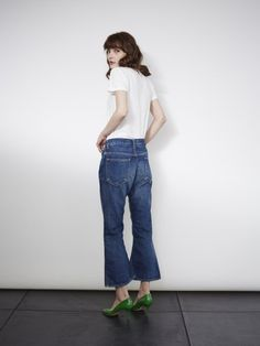FLARE CROPPED JEANS
