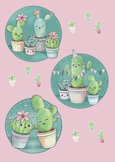 Ideas For Painting Cactus Cute Cactus Drawing, Cactus Art, Cactus Plants, Garden Cactus, Cacti, Cute Wallpapers, Wallpaper Backgrounds, Iphone Wallpaper, Brush Drawing