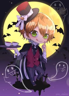 Chibi Boy, Kawaii Chibi, Anime Chibi, Kawaii Anime, Anime Art, Tracing Art, Otaku, Anime Halloween, Cute Anime Boy