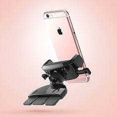iOttie Easy One Touch Mini CD Slot Car Mount Holder Cradle for iPhone 7 7 Plus/ 6s Plus/6s/6, Galaxy S7/S7 Edge, EdgeS6/S6 Edge, Galaxy Note 7/5, Nexus 6, & Smartphones