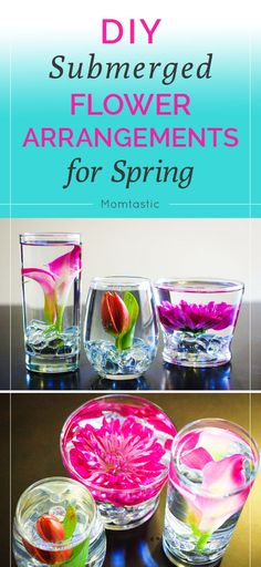 DIY submerged flower arrangements for spring