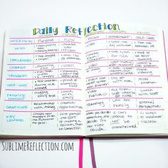 Bullet Journal Q&A #1 - Sublime Reflection