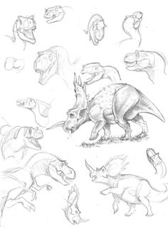 Dinosaurs pencil by marciolcastro on DeviantArt   ★ || CHARACTER DESIGN REFERENCES (https://www.facebook.com/CharacterDesignReferences & https://www.pinterest.com/characterdesigh) • Love Character Design? Join the #CDChallenge (link→ https://www.facebook.com/groups/CharacterDesignChallenge) Share your unique vision of a theme, promote your art in a community of over 25.000 artists! || ★