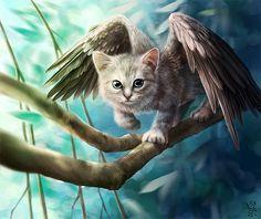 Se meu gato tivesse asas, seria parecido com esse. Creative Digital Portraits by NImportant
