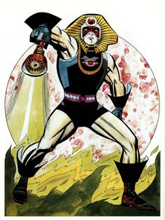 "Ramses the Black Sphinx original concept by Jack ""the King"" Kirby Kirby Character, Comic Character, Character Design, Comic Book Artists, Comic Books Art, Comic Art, Thor, Jack Kirby Art, 70s Sci Fi Art"