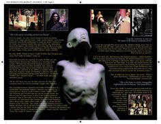 Cradle of Filth - Pandaemonaeon DVD booklet spread. Client: Music For Nations. Circa 1999. © Sean Mowle.