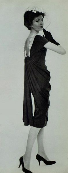 1958 Jean Dessès. As all the great designers know, the back of a dress is just as important as the front.