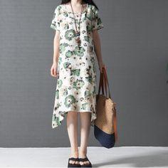 Talla Grande para Mujer Dama De Verano Vestido de lino floral falda suelta Túnica Larga De Lino | Ropa, calzado y accesorios, Ropa para mujer, Vestidos | eBay!