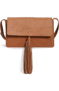 BP. Tassel Faux Leather Crossbody Bag available at #Nordstrom