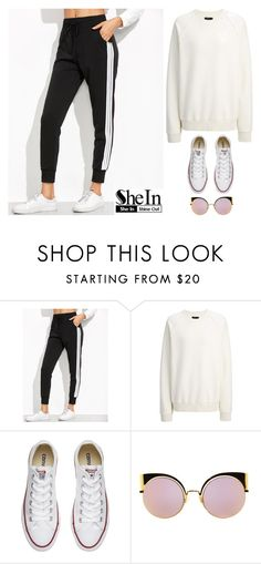 """Shein contest"" by amazing-724 ❤ liked on Polyvore featuring Joseph, Converse and Fendi"