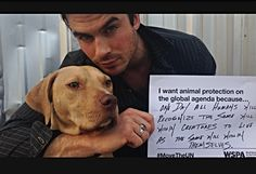 does anyone else love that  Ian Somerhalder is not only beyond beautiful but also cares about human and animal rights