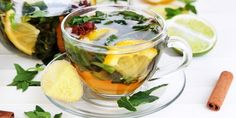 Té de jengibre, canela y limón para deshinchar la barriga y bajar de peso